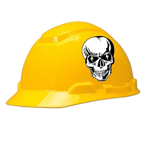 Lightning Skull Hard Hat Helmet Sticker